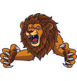 angry leaping lion vector image vector image