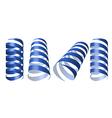 blue swirl ribbons vector image