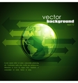 business concept design with green globe and vector image vector image
