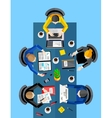 Business concept Top view workspace background vector image