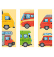 Campers vacation travel car summer brochure nature vector image