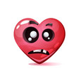 cartoon character heart dead love smiley vector image