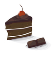 choc cake vector image vector image