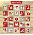 christmas advent calendar or poster winter vector image vector image