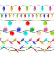 christmas lights isolated led neon lamp vector image