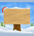 christmas santa hat sign background vector image vector image