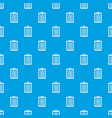 clipboard with check list pattern seamless blue vector image vector image