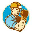 coal miner vector image vector image
