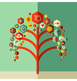 Colorful social network tree vector image vector image