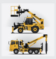 construction vehicles vector image vector image