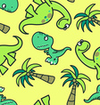 Cute dinosaur seamless pattern vector image vector image