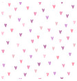 cute hearts seamless pattern vector image