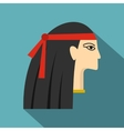 Egyptian princess icon flat style vector image vector image