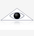 eye in triangle vector image vector image