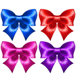 Festive bows with glitter vector image vector image