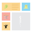 flat icon festival set of candlestick spirit vector image vector image