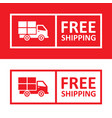 free shipping badge with truck icon vector image