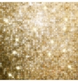 Golden abstract mosaic background EPS 8 vector image vector image