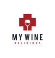 health wine vector image vector image