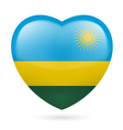 Heart icon of Rwanda vector image