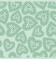 hearts light green vector image