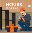 house repair and renovation service master vector image vector image