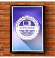 household appliances logo or label template