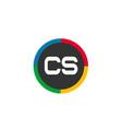 initial letter cs logo template design vector image vector image