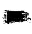 ink brush stroke with white frame acrylic paint vector image vector image