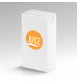 juice package realistic mock up carton vector image vector image