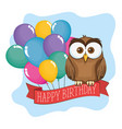 Little cute owl birthday card