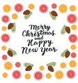 merry christmas and happy new year spruce branches vector image vector image