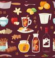 mulled wine christmas drink multeity vector image