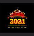 new year marquee 2021 vector image