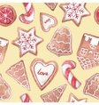 Nice ginger cookies pattern vector image vector image