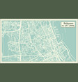 palermo italy city map in retro style outline map vector image vector image