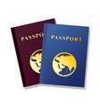 Passport Isolated on white background vector image vector image