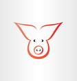 pig symbol pork meat icon design vector image
