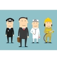 Professional occupation characters People vector image vector image