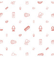 protein icons pattern seamless white background vector image vector image