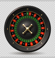 roulette wheel 3d realistic casino spin gambling vector image vector image