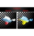 Russian and Ukrainian flags on Crimea vector image vector image