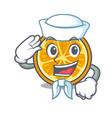 sailor orange character cartoon style vector image vector image