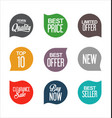 sale promo labels and stickers collection 4 vector image