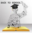 School and education background vector image vector image