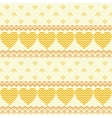 Seamless background hearts and patterns vector image vector image