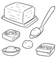 set of butter vector image vector image