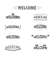 Set of vintage style Welcome labels emblems vector image