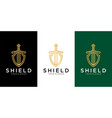 shield logo designs template vector image