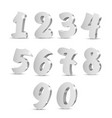 silver old 3d numbers vector image vector image